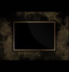 golden luxury frame background vector image
