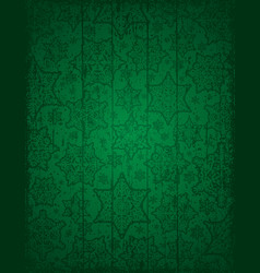 Green christmas background with snowflakes and vector
