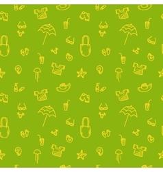 hand drawn summer seamless pattern green vector image