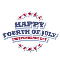 Happy Fourth of July America logo vector