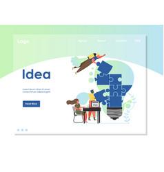 Idea website landing page design template vector