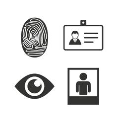 Identity ID card badge icons Eye symbol vector image