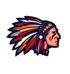 Indian chief Logo or icon mascot vector
