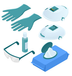 Isometric set disposable protection against vector