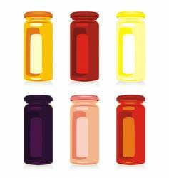 jam jars vector image