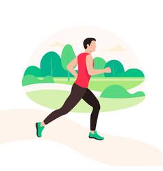jogging and running man runner in motion vector image