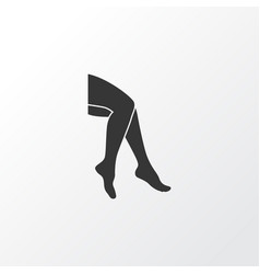 leg icon symbol premium quality isolated foot vector image