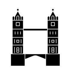 london - tower bridge icon vector image
