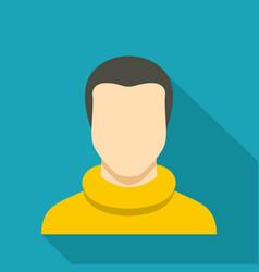 man avatar icon flat vector image