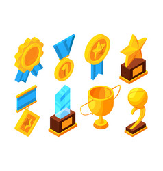 medals of honor and different sport trophies vector image