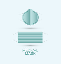 Medical mask keep calm and stay healthy template vector