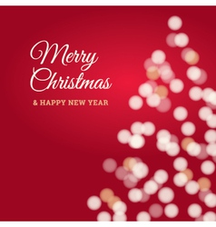 Merry christmas tree card red vector