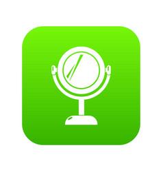 mirror icon green vector image
