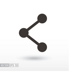 network flat icon sign social network vector image