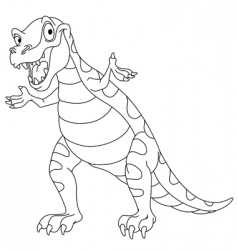 outlined dinosaur vector image