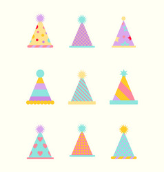 party hat set isolated on a white vector image