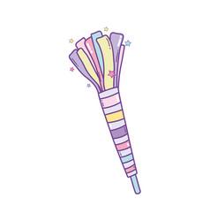 Party popper cartoon vector