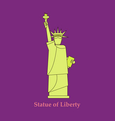 Portrait statue of liberty usa poster black vector