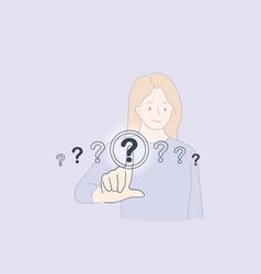 question mark button concept vector image
