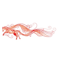 Red horse vector