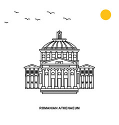 Romanian athenaeum monument world travel natural vector