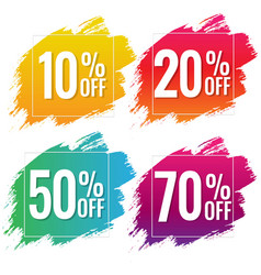 sale banner with color text with blobs white vector image