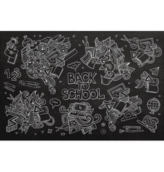 School and education doodles hand drawn vector image