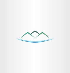 sea and mountains island logo icon vector image