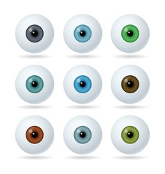 set humans and abstract eyes realistic eyes vector image