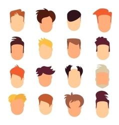 set of hairstyle man vector image