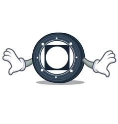 Shock byteball bytes coin mascot cartoon vector