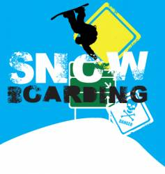 snowboarder signs vector image vector image