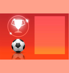 soccer fooball template with copy space on red vector image