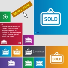 Sold icon sign buttons Modern interface website vector image
