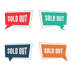 Sold out banners vector