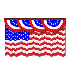 stars and stripes flag and bunting vector image