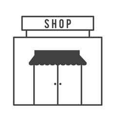 Storefront facade icon image vector