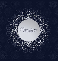 Stylish premium mandala frame floral background vector