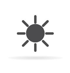 sun icon 1 vector image