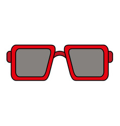 sunglasses square frame icon image vector image
