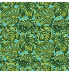 Tropical leaves background - seamless pattern vector