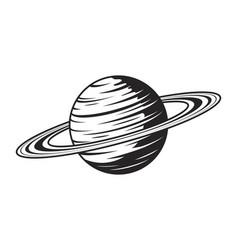 vintage saturn planet concept vector image