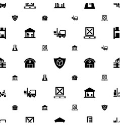 warehouse icons pattern seamless white background vector image