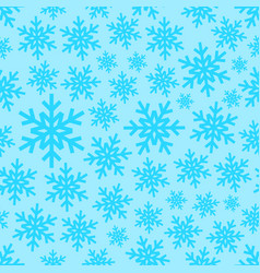 white snowflakes on gradient background seamless vector image