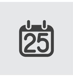 25 calendar icon vector image