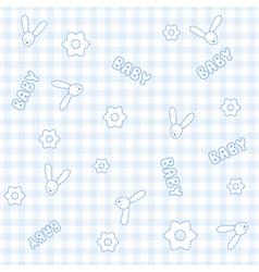 Baby Boy Bunny Pattern vector image vector image