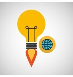 creativity idea business globe connection vector image