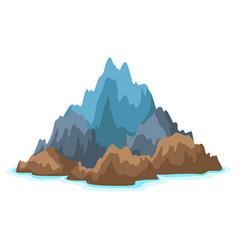 rocky island in ocean landscape vector image