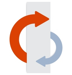2 half-round sticky arrows vector image