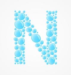 Alphabet Letter N vector image